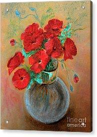 Poppies  Acrylic Print by Jasna Dragun