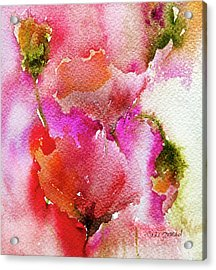 Acrylic Print featuring the painting Poppy Garden by Linde Townsend