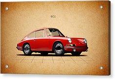 Porsche 901 Acrylic Print by Mark Rogan