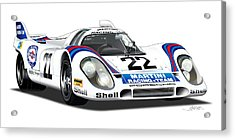 Porsche 917 Illustration Acrylic Print