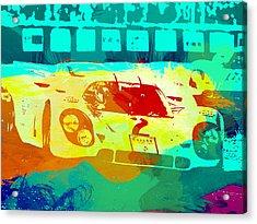 Porsche 917 Watercolor Acrylic Print by Naxart Studio
