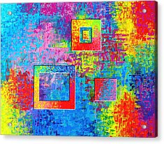 Portals Of Color Acrylic Print by Jeremy Aiyadurai