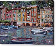 Portofino Al Crepuscolo Acrylic Print