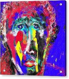 Portrait Of A Homeless Man Acrylic Print