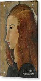 Portrait Of A Young Woman  Acrylic Print by Amedeo Modigliani