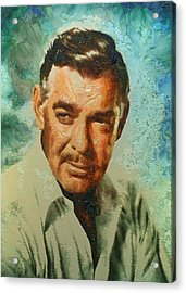 Portrait Of Clark Gable Acrylic Print by Charmaine Zoe