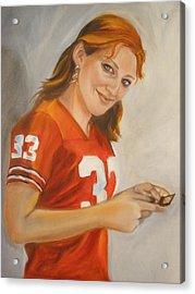 Portrait Of Ellie Acrylic Print by Kaytee Esser