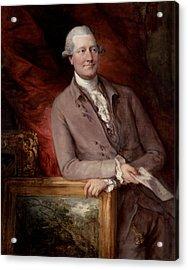 Portrait Of James Christie Acrylic Print by Thomas Gainsborough