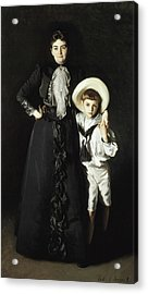 Portrait Of Mrs Edward L Davis And Her Son Livingston Davis Acrylic Print by John Singer Sargent