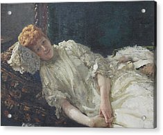 Portrait Of The Pianist Louisa Mercy D'argenteau Acrylic Print by Ilya Repin