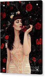 Portrait Of Young Woman Acrylic Print