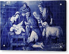 Portuguese Azulejo Tiles Acrylic Print by Gaspar Avila