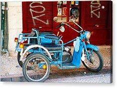 Portuguese Wheels Acrylic Print by Andrea Simon