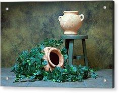 Pottery With Ivy I Acrylic Print by Tom Mc Nemar
