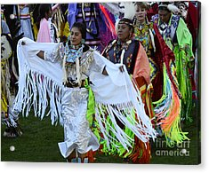 Pow Wow Beauty Of The Past 13 Acrylic Print by Bob Christopher