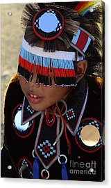 Pow Wow Beauty Of The Past 3 Acrylic Print by Bob Christopher