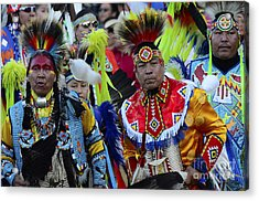 Pow Wow Beauty Of The Past 8 Acrylic Print by Bob Christopher