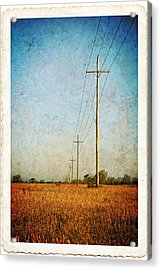 Acrylic Print featuring the photograph Power Lines At Sunrise by Lars Lentz