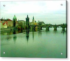 Prague  1 Jgibney 2000 City Bridge 2010 Acrylic Print by jGibney