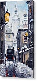 Prague Old Street 02 Acrylic Print by Yuriy  Shevchuk