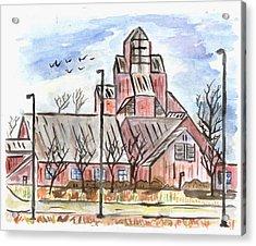 Prairie Holdings Building Acrylic Print by Matt Gaudian