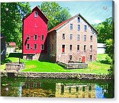 Prallsville Mill Acrylic Print by Addie Hocynec
