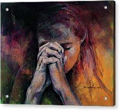 Praying Acrylic Print by Dorina Costras