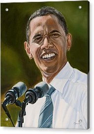 President Barack Obama Acrylic Print by Christopher Oakley