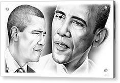 President Barack Obama Acrylic Print by Greg Joens