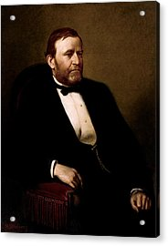 President Ulysses Grant Acrylic Print by War Is Hell Store
