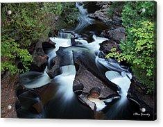 Presque Isle River Falls Acrylic Print