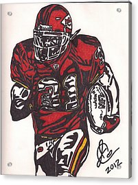 Acrylic Print featuring the drawing Priest Holmes 2 by Jeremiah Colley