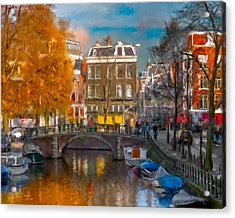 Acrylic Print featuring the photograph Prinsengracht 807. Amsterdam by Juan Carlos Ferro Duque