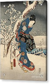 Print From The Tale Of Genji Acrylic Print by Kunisada and Hiroshige