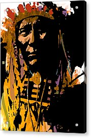 Proud Chief Acrylic Print