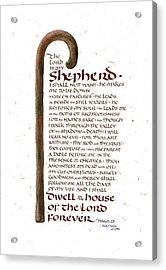 Psalm 23 Acrylic Print by Judy Dodds