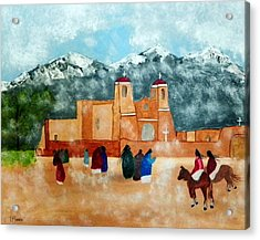 Pueblo Church Acrylic Print