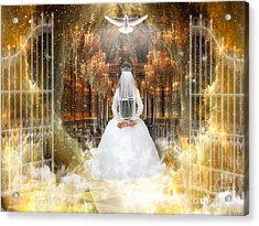 Pure Bride Acrylic Print by Dolores Develde