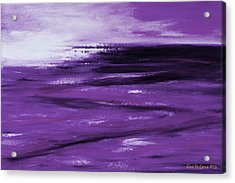 Purple Abstract Sunset Acrylic Print