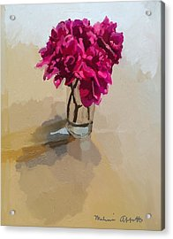 Purple Dahlias Acrylic Print