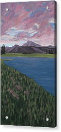 Purple Mountains Acrylic Print by Candace Shockley