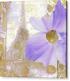 Purple Paris I Acrylic Print by Mindy Sommers