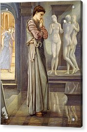 Pygmalion And The Image The Heart Desires Acrylic Print by Edward Burne-Jones
