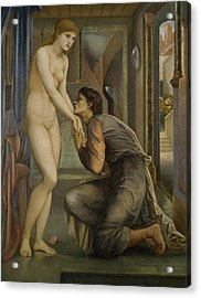 Pygmalion And The Image The Soul Attains  Acrylic Print by Edward Burne-Jones