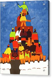 Pyramid Of African Drummers Acrylic Print