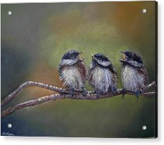 Acrylic Print featuring the painting Quarelling by Ceci Watson