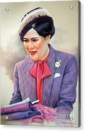 Queen Sirikit Acrylic Print by Chonkhet Phanwichien