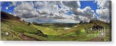Quiraing And Trotternish - Panorama Acrylic Print