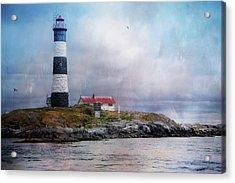 Lighthouse At Race Rocks Acrylic Print