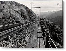 Railroad Acrylic Print by Amarildo Correa